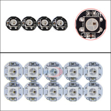 5~1000pcs ws2812b LED chips;LED Board Heatsink;With (10mm*3mm) WS2811 IC;Built-in 5050 SMD RGB;DC5V;Black/White PCB 100 1000pcs ws2812b ws2812 led chip pcb heatsink dc 5v 5050 rgb ws2811 ic built in