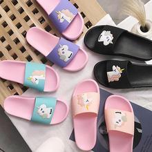 Сандалии-шлепанцы; женские шлепанцы; сезон лето; шлепанцы на платформе с изображением единорога; женская обувь; женские Вьетнамки; пляжные сандалии; zapatillas mujer