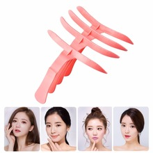 4 pcs/pack Micro Eyebrow Pencil Forming Molding Template Ruler Microblading Makeup Tools Permanent Stencils Cheap