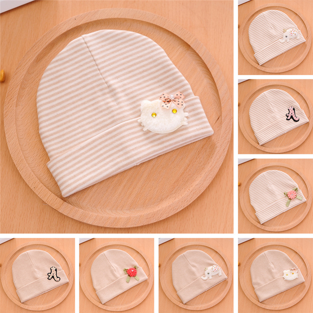 Colored Cotton Beanie Hat Cap For Babies Newborns Cotton Beanie Hat For Toddler Unisex Color Lovely Baby Beanies Accessories