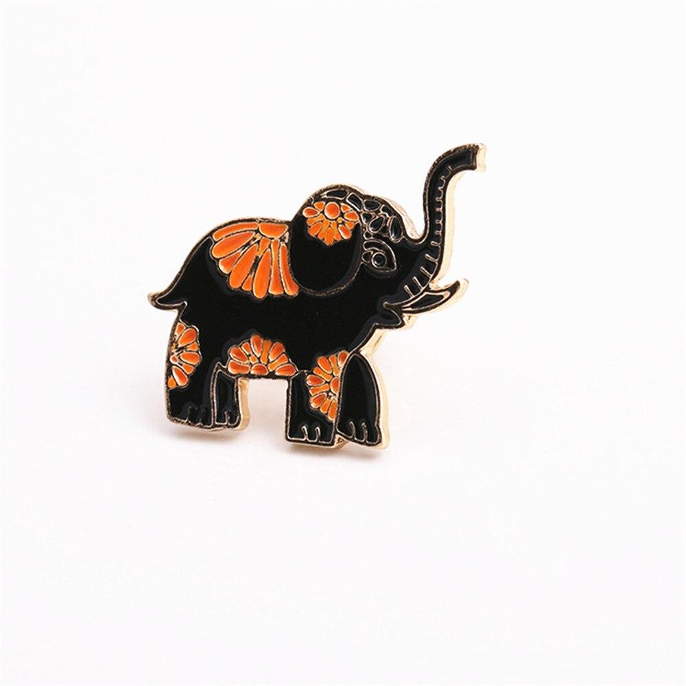 Forest series animal elephant handmade enamel drop glaze brooch chest flower Collar pin 2017 factory direct sale