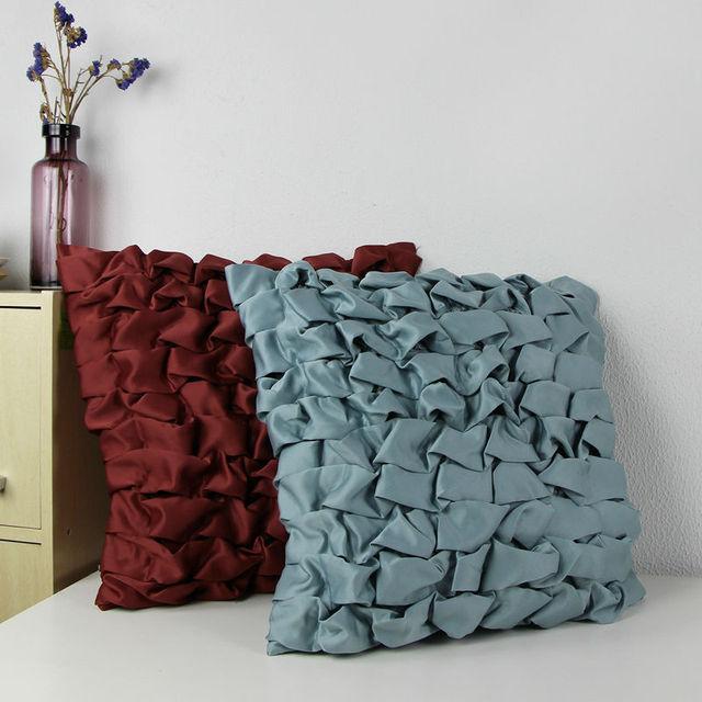 2017 Satin Creative Bubbles Accent Decorative Throw Pillow Cover Handmade Bubble Cushion Sofa Case