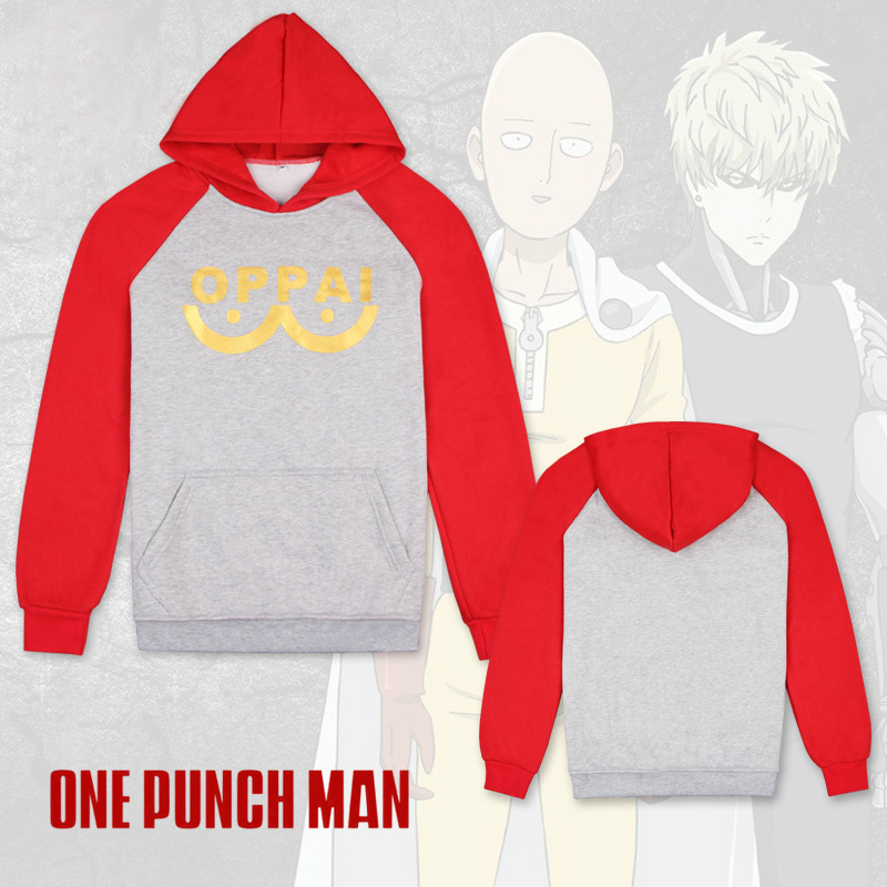Anime ONE PUNCH MAN Thicken Sweatshirts Cosplay Costume Saitama Hooded Pullover Fleece Hoodie