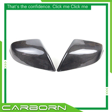 For Tesla 2014-2016 Model S 60 70 P85 P90D 4 Door Sedan Add On Style Gloss Black Carbon Fiber Body Side Rear View Mirror Cover