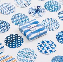 Blue Impression  Stickers Adhesive Stickers DIY Decoration Stickers
