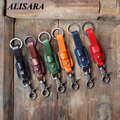 Men Genuine Leather Keychain Metal Car Key Ring Multifunctional Tool  women Key Chain Key Holder