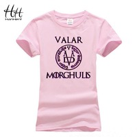 HanHent Valar Morghulis T Shirts Woman Game Of Thrones T Shirts Fashion Summer Tops 2016 Letter