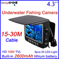 BESTWILL Original Underwater Fishing Camera Video Fish Finder Ice Fishing Camera with 4.3 inch monitor 15-30M Cable HD 1000TVL