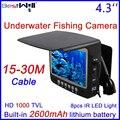 Bestwill original câmera inventor dos peixes de pesca no gelo pesca submarina câmera de vídeo com 4.3 polegada do monitor 15-30 m cabo hd 1000tvl