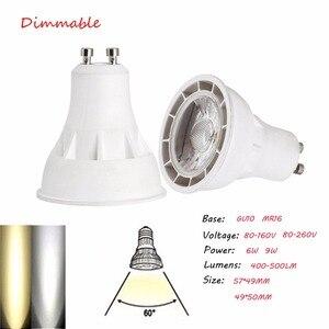 Супер яркие светодиодные прожекторы с регулируемой яркостью GU10 MR16 6W 9W COB светодиодные лампы лампада CREE Освещение AC 80-260V Холодный теплый белы...