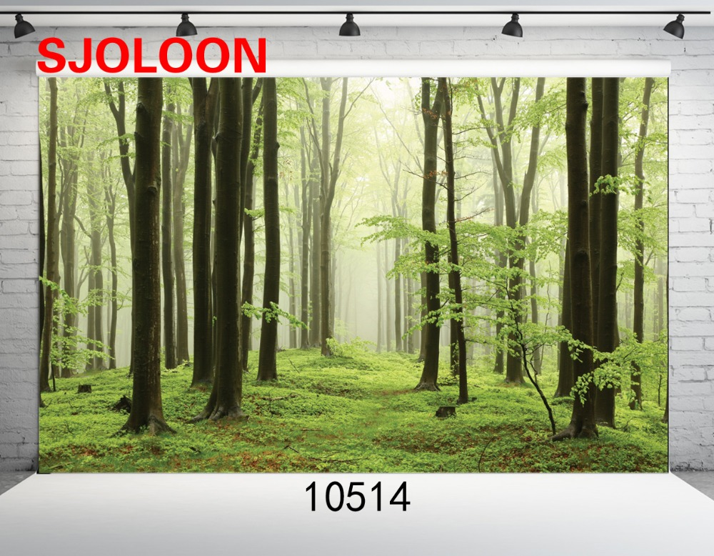 SJOLOON Natural forest backdrop Photo background photography backdro Fond studio photo vinyle Photography backdrops 9x6ft