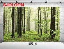 SJOLOON Естественный лес фон Фото фон фотографии backdro Фонд студия фотография винил Фотографии фонов 9x6ft