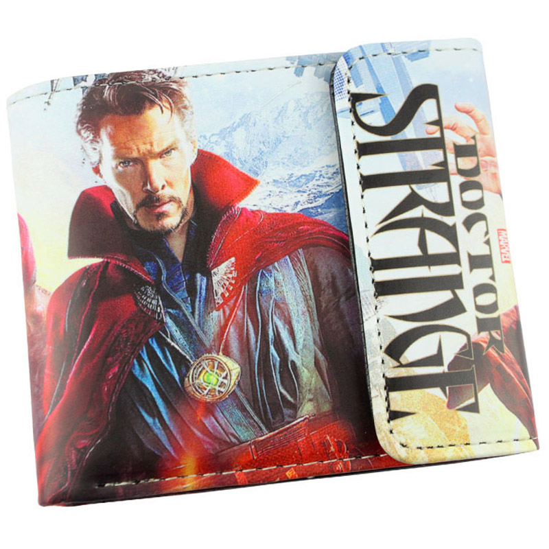 Doctor Strange High Quality PU Short Wallet/Folding Purse with Button moana maui high quality pu short wallet purse with button