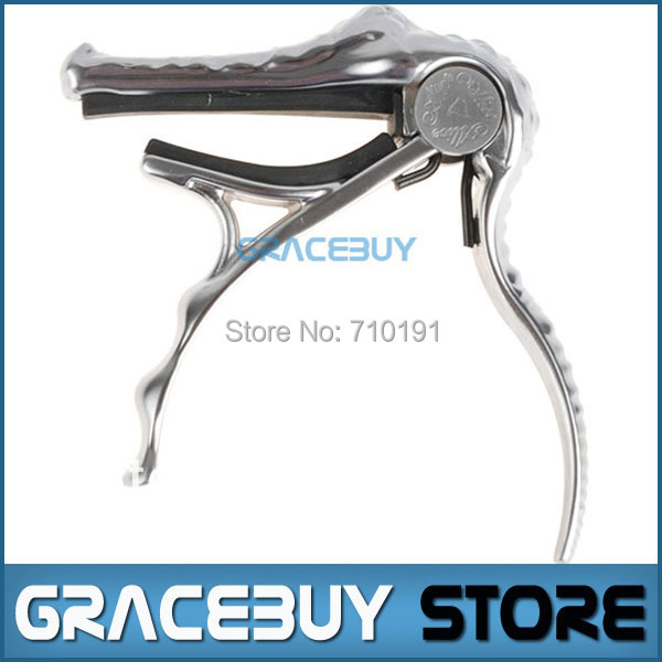 Alice A007G-PC Crocodile Head Shape Folk Acoustic Guitar Quick Tuning Change Tune Capo Ancient Silver Brand New capotraste alice brand capo for acoustic classical electric guitar crocodile style high quality aluminum alloy capo guitarra capos a007g