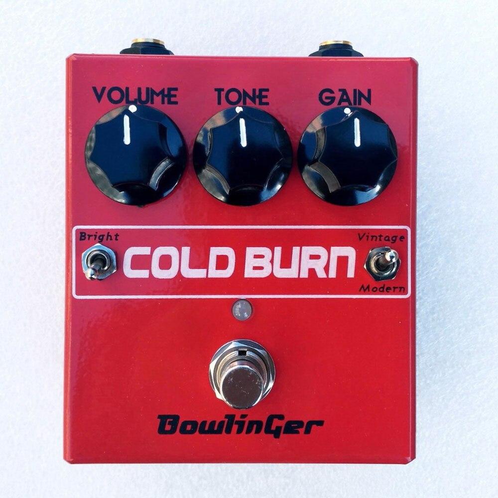 BowlinGer Handmade British Distortion Electric Guitar Pedal Vintage Sound Cold Burn Guitar Effect Free Shipping