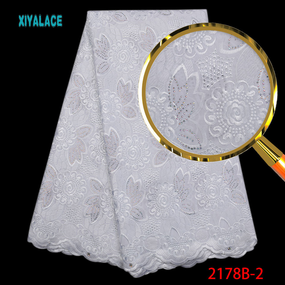 African Lace Fabric Swiss Voile Lace High Quality White Lace Fabric Embroidery Voile Dry Lace With