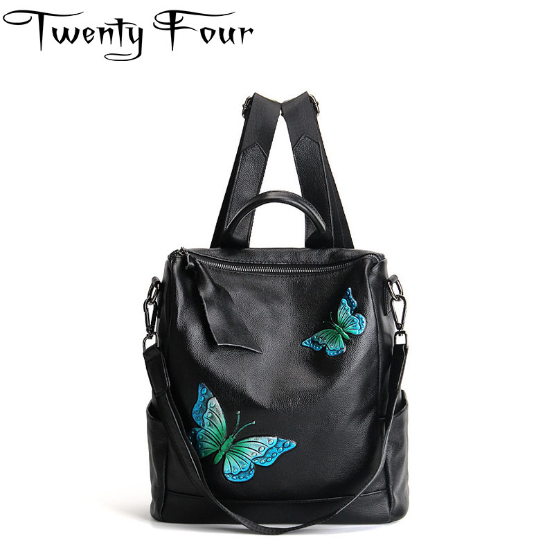 Twenty-four 2017 Fashion Backpack 3D Printing Butterfly Travel Softback Man Women Drawstring Bag Men Leather Backpacks Mochilas