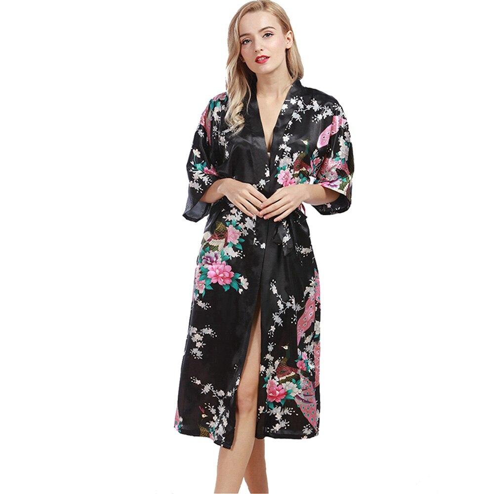 Satin Robe Dressing Gowns For Women Bathrobe Silk Robe Robes For ...