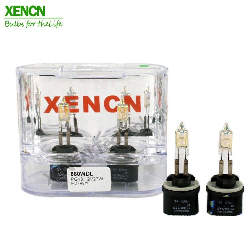 XENCN H27W 880 12V27W белый алмазный свет Красочные автомобильные лампы галогенные заменяемые обновленные Противотуманные фары для Cadillac Chevrolet Oldsmobile