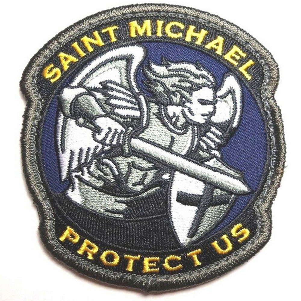 Michael Angel Protect Us Tactical Hook fastener backing Patch Saint St