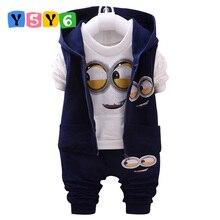 Hot style 2018 spring baby girls boys suits mignon / newborn clothing set kids vest + shirt + pants 3 pcs. sets children suits