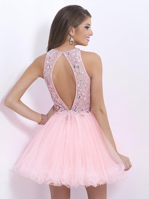 Famoso Vestido De Cóctel De Color Rosa Claro Festooning - Ideas de ...