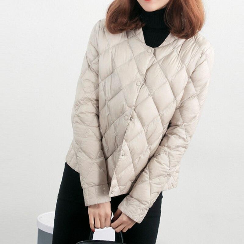Women Winter Ultra Light Down Coat 90% White Duck Down Jacket Slim Short Female Casual Jacket Windproof Down Coats FP1360