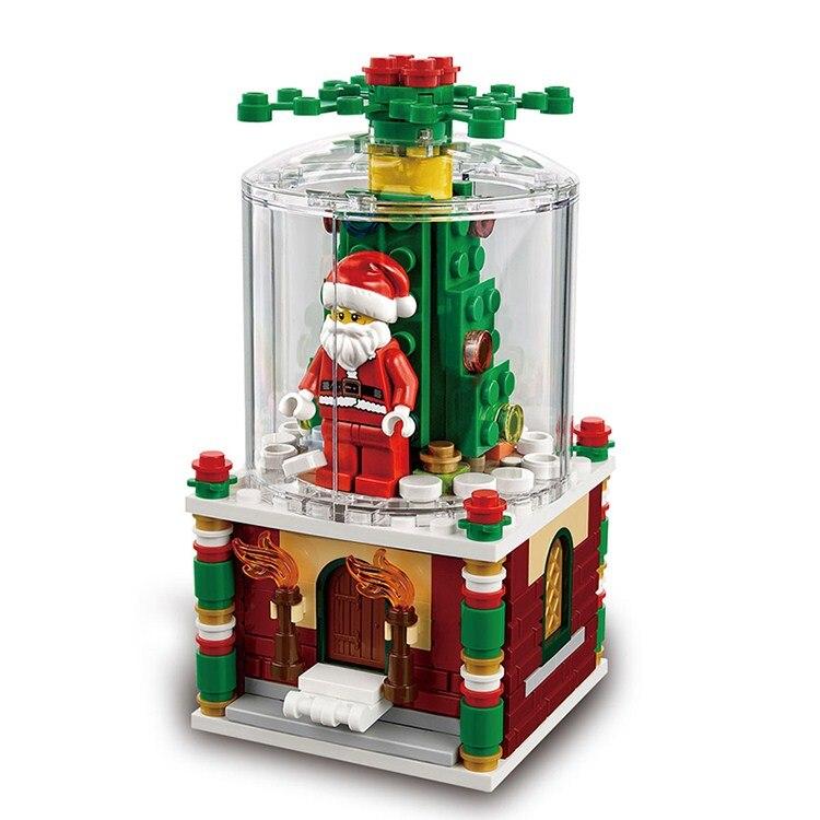 цена на LEPIN 36004 Christmas Santa Snow Globe Figure Blocks Compatible Legoe Educational Construction Building Toys For Children