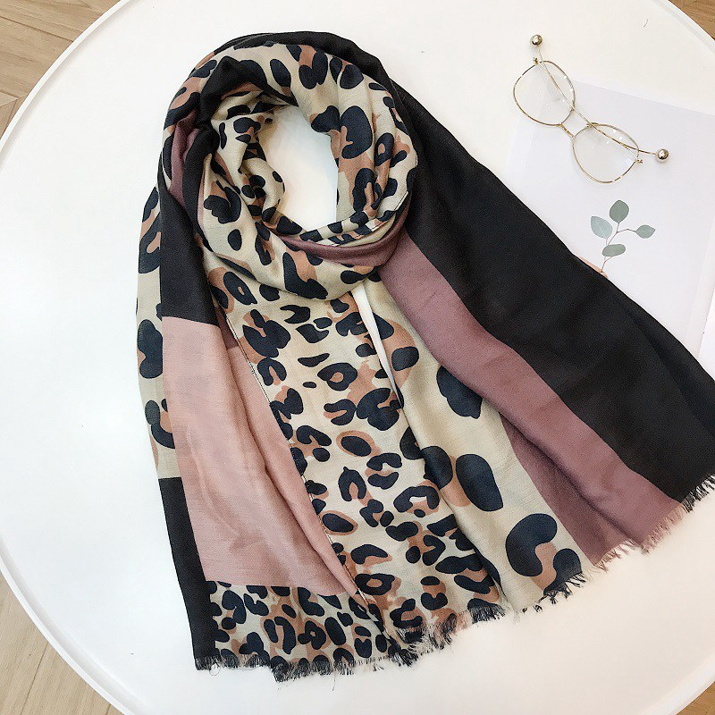 180*90 cm Leopard Print Silk   Scarf   Fashion Women Long Blanket   Scarves   Ladies Elegant Neck   Scarf     Wrap   Shawl Gifts For Women Girls