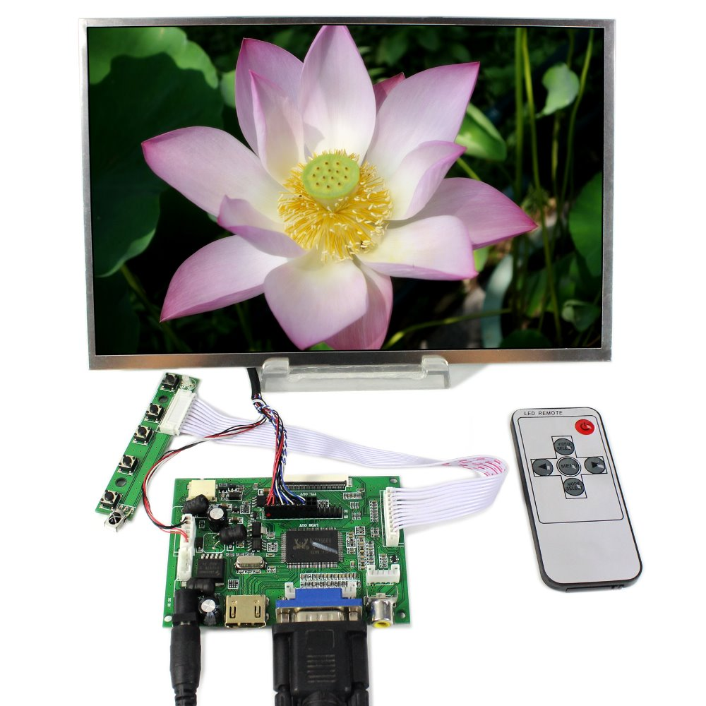 """HDMI VGA 2AV LCD Controller Board+10.1"""" B101AW03 1024x600 LCD Screen With Touch Panel"""