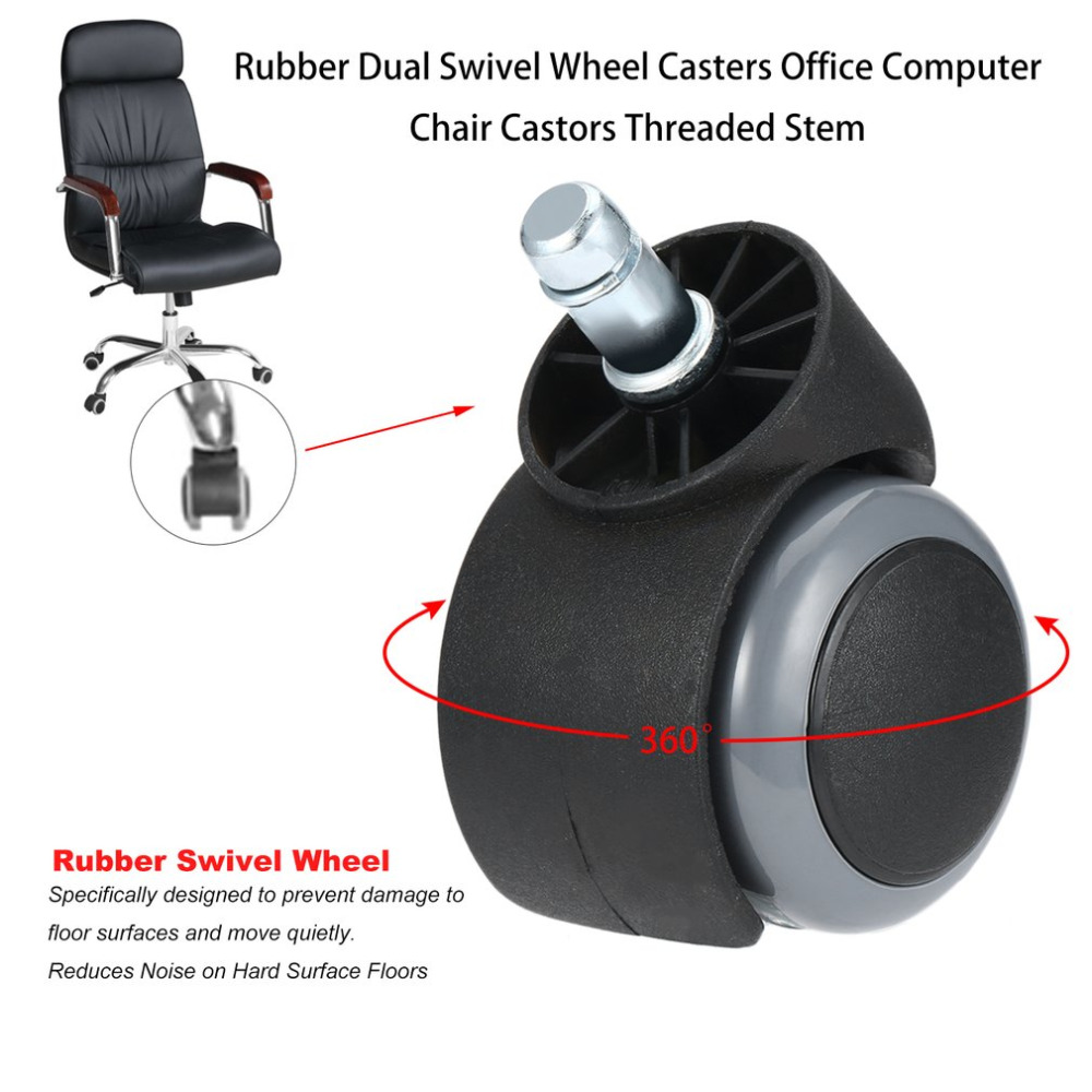 Dual Wheel Casters Set Of 4 With Metal Bracket Office Chairs Furniture /& More