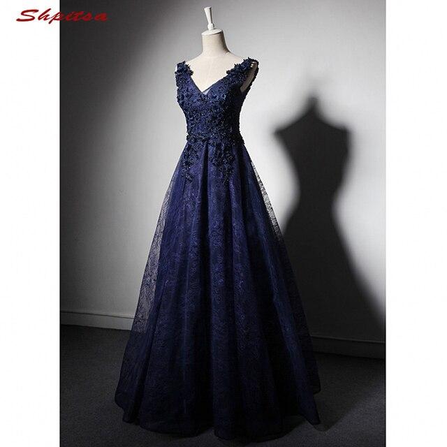 Vestidos Línea A De Noche Largos Mujer Vestidos Azul