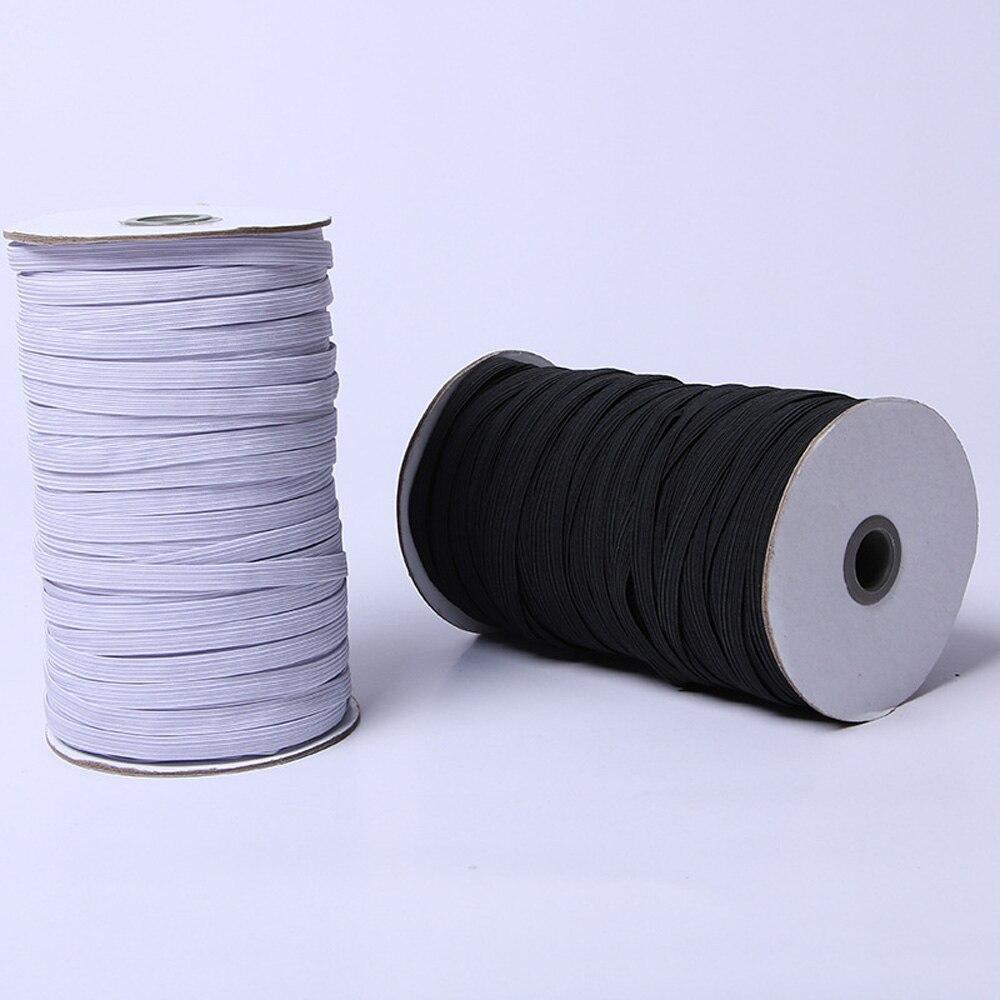 Wide Elastic Ribbon Spool Elastic Cord Sewing Band Flat Knitting Stretch Rope