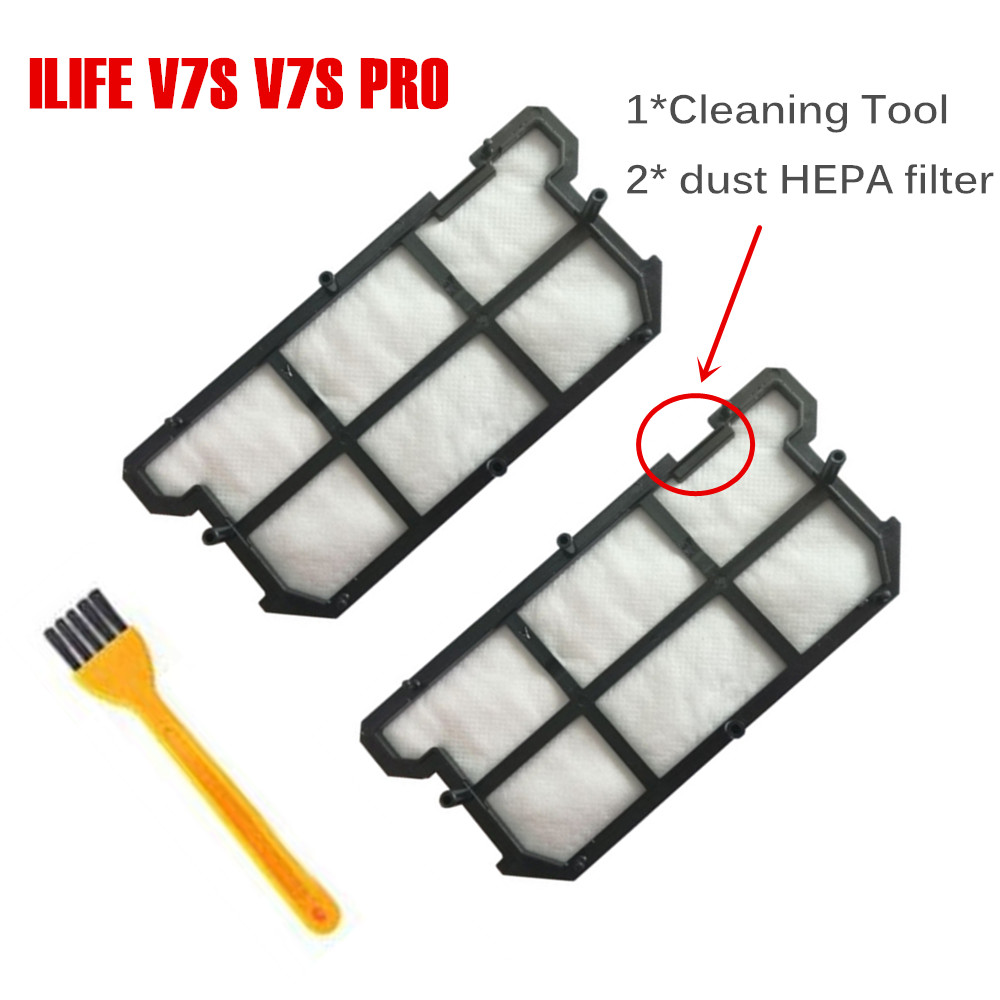 Original Accessory HEPA Filter for ILIFE V7S V7S PRO Robot Vacuum Cleaner Spare Parts KitsOriginal Accessory HEPA Filter for ILIFE V7S V7S PRO Robot Vacuum Cleaner Spare Parts Kits