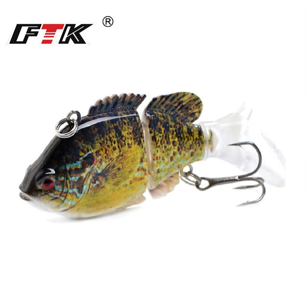FTK 13g 2 Segment Sinking VIB Hard Fishing Lure 7.5cm Multi Jointed Swimbait Hard Bait Wobbler For Bass Pike Jerkbait Crankbaits