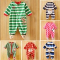 2017 new  Winter Fleece baby clothes baby girls boys  Long sleeves bodysuit baby boy jumpsuit