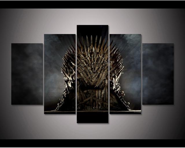 Enmarcado HD impresión 5 unids Juego de tronos lona pared arte ...