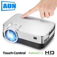 Бренд Аун Q6. HD мини проектор, 1280x720, Android проектор в комплекте WI FI, Bluetooth. Видео проектор. 1080 P, USB, HDMI.