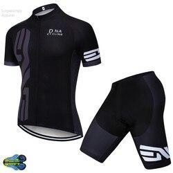 פרו צוות 2019 גברים רכיבה על אופניים ג 'רזי סט שחור רכיבה על אופניים ביגוד Ropa Ciclismo Pro אופניים ללבוש אופני בגדי סטי 12D ג 'ל כרית