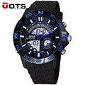 Top Homens OTS Relógio Digital resistente à água LED Sports Relógios de Quartzo dos homens da Marca Dos Homens Do Exército Militar Relógio de Pulso Relogio Masculino
