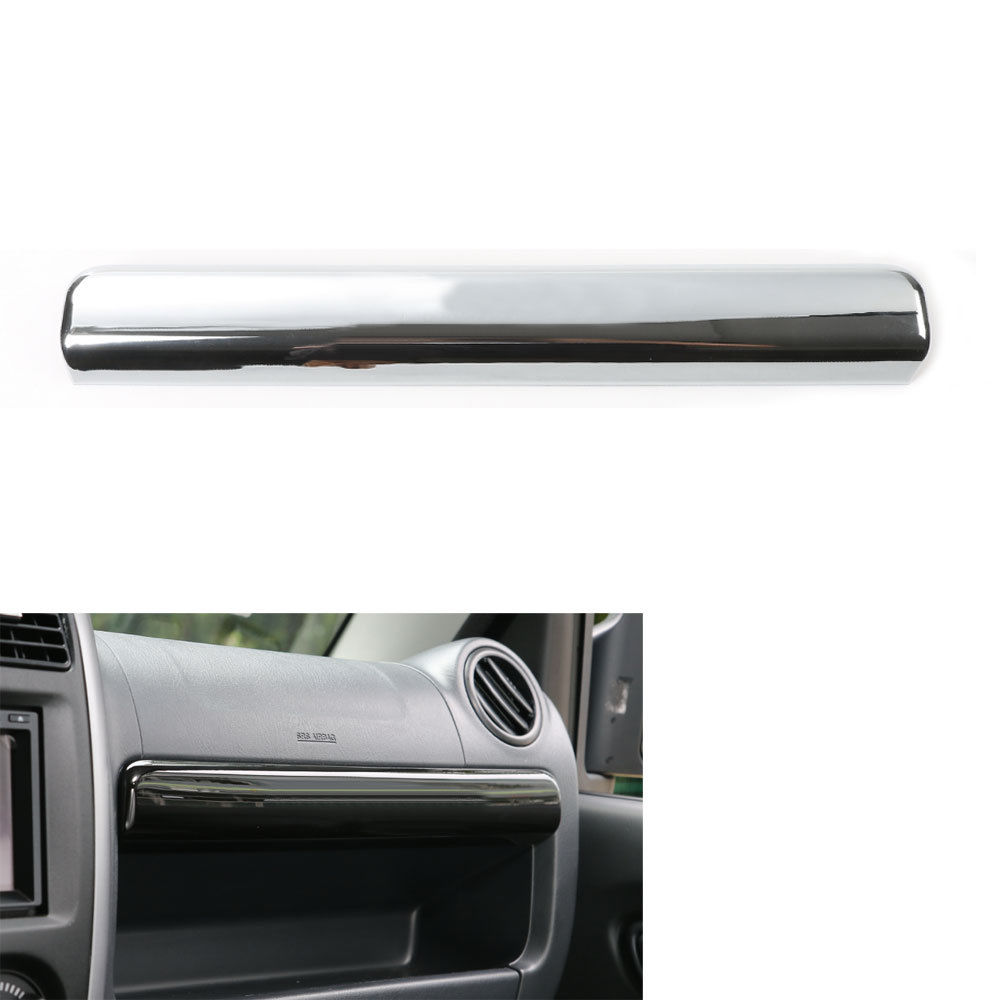 For 2007-2015 Suzuki Jimny Car Styling Glove Box Cover Trim ABS Chrome Storage Box Decoration Sticker Interior Car Accessories mopai abs exterior outer car body door side decorative sticker moulding trim car cover styling for suzuki jimny 2008 up