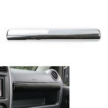 Для 2007-2015 Suzuki Jimny автомобильный Стайлинг перчаточный ящик Крышка отделка АБС ХРОМ коробка для хранения украшения Наклейки интерьерные автомобильные аксессуары