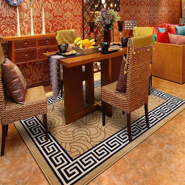 Moderne de mode de luxe de style chinois grand tapis for Salon style asiatique