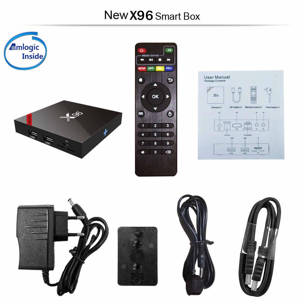 X96W Android 7,1 ТВ Box Мини Box ТВ Amlogic S905W 1 + 8 г 2 + 16 г Поддержка bluetooth 2,4 ГГц Wi-Fi HD 4 К медиаплеер телеприставку