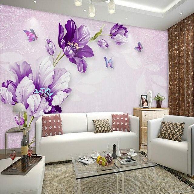 Papel Tapiz 3d Para Paredes 3d Pared Papel Tv Fondo Pintura Mural - Pinturas-en-paredes