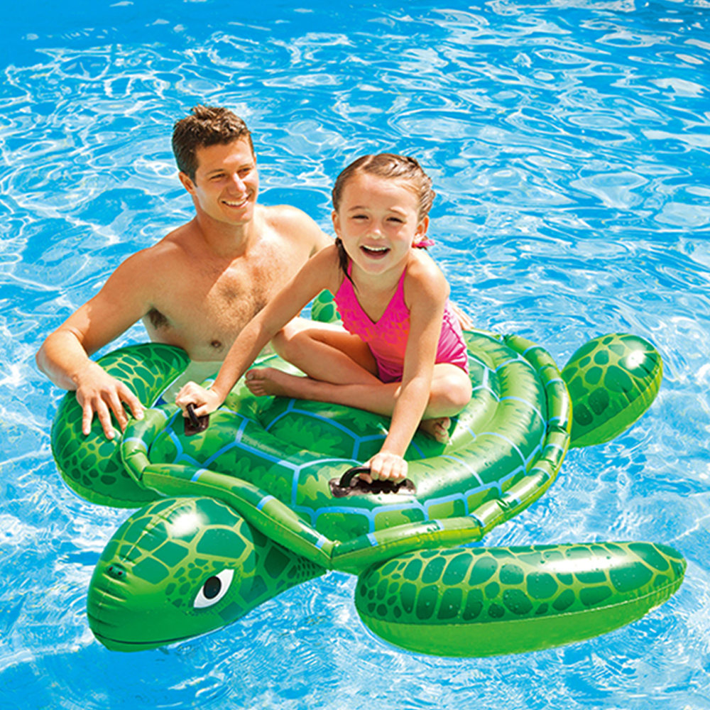 2019 new swim ring cartoon turtle floating bed adult children animal inflatable swimming pool accessories water sports