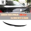 W221 спойлер на задний багажник  крыло из углеродного волокна в стиле AMG для Mercedes Benz W221 S300 S350 S500 2005 - 2013