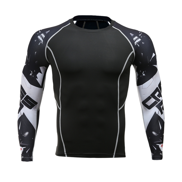 Long-sleeved T-shirt sports men's running T-shirt fitness sportswear sports men's compression sportswear Rashgard 1