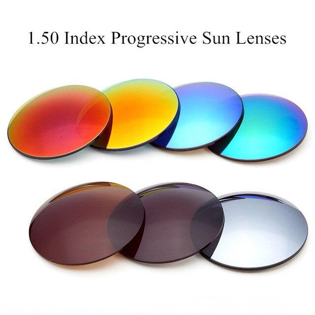 1.50 Индекс Поляризованный UV 400 Солнцезащитные очки Оптический Близорукость Очки Мультифокальные Прогрессивные Линзы