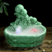 Improve Air Ceramics Fountain Water Flower Humidifier Creativity Living Room Ornaments Protection Health Fish Culture Crafts